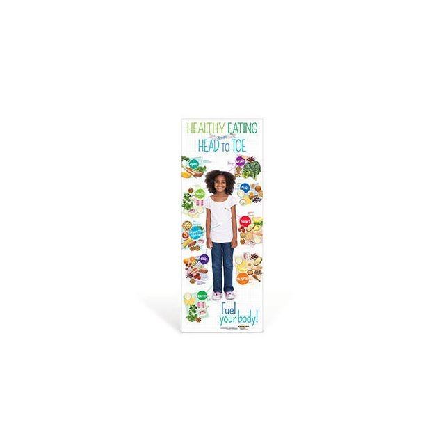 Kids Healthy Eating from Head to Toe Vinyl Banner
