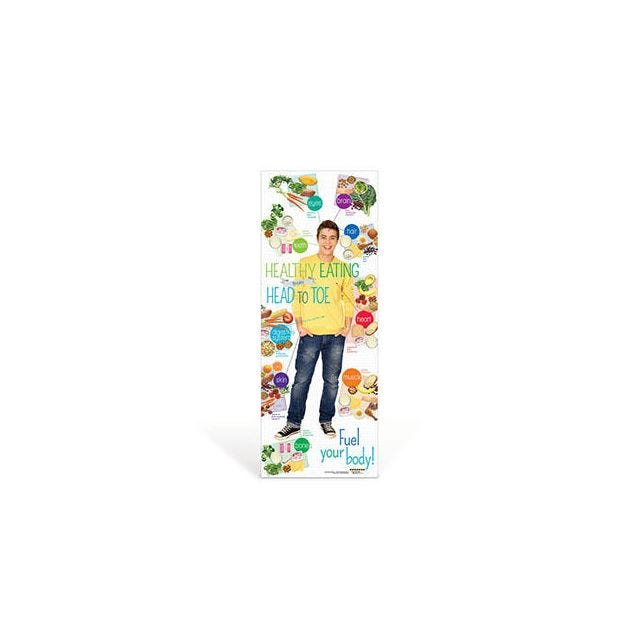 Teen Healthy Eating from Head to Toe Vinyl Banner