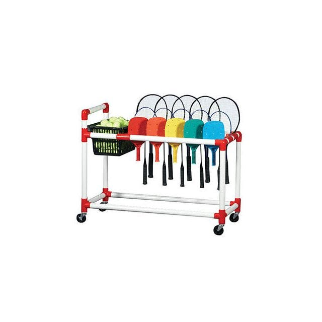 Racquet Caddy with Basket
