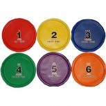 Flexible Numbered Flying Disc Set